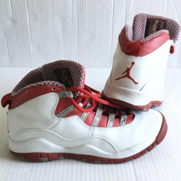 Jordan Shoes   Air 10 Cherry Redwhite